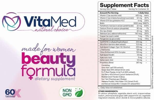 Beauty Formula - Supplement Facts