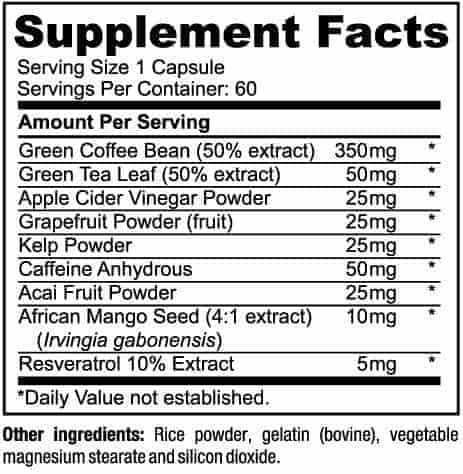 weight management supplement ingredients