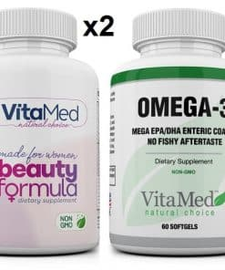 2 bottles Beauty & 1 bottle Mega Omega-3